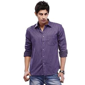Peter England PSF 5114451 Men's Shirts-Violet