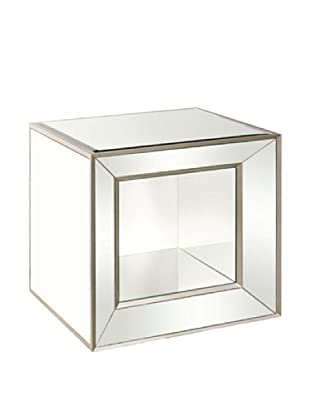 Bassett Mirror Minetta Mirrored Accent Table, Mirrored
