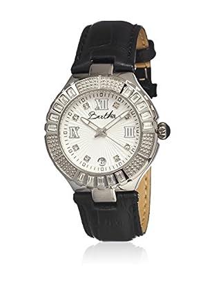 Bertha Uhr mit Japanischem Quarzuhrwerk Evelyn schwarz 41 mm