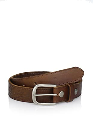 Bed Stu Women's Tucker Embroidered Leather Belt (Tan)