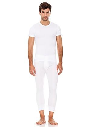 Abanderado Camiseta Manga Corta Caballero Fibra Invierno Pack3 (Blanco)