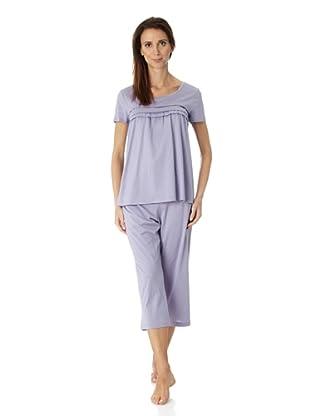 Hanro Pyjama 1/2 Arm Stella (Lila)