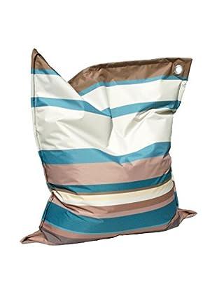 Modern Loft Sitzsack Stripes himmelblau/braun
