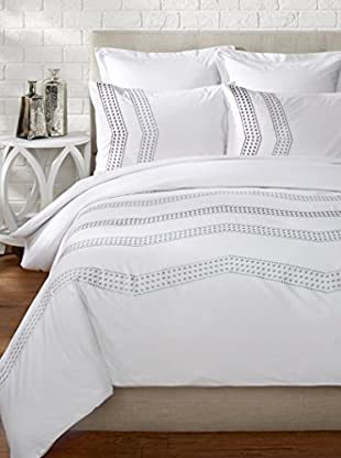 Mélange Home Vail Embroidered Duvet Set