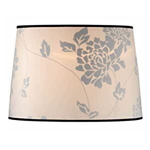 Laura Ashley SLD202 Isodore 14-Inch Drum Shade, Floral
