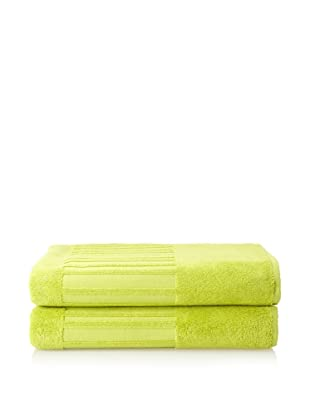 Garnier-Thiebaut Set of 2 Bath Sheets (Lime)