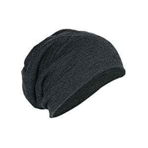 District DT618 Slouch Beanie Charcoal Heather/One Size AD