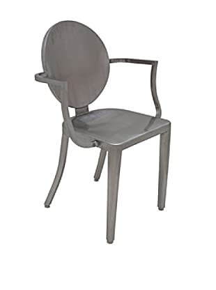 Industrial Chic Louis Chair, Silver
