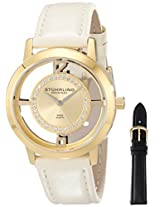 Stuhrling Original Classic Analog Gold Dial Women's Watch - 388L2.SET.02