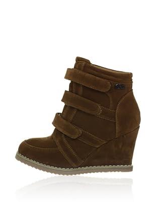 Buffalo Girl Keil-Sneaker (Braun)