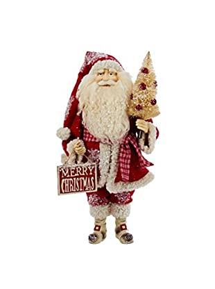 Kurt Adler Ivory and Red Santa Statue