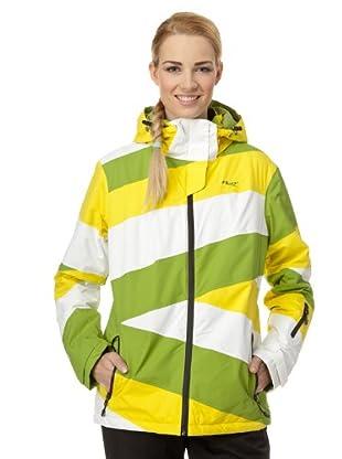 H2O Skijacke Logan (grün/gelb/weiß)