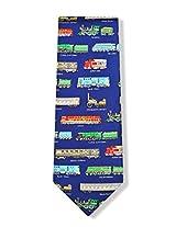 100% Silk Assorted Trains Locomotive Derailed Necktie Tie Neckwear