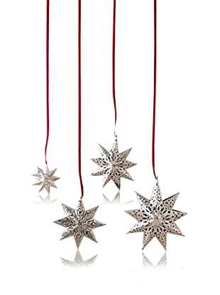 Shiraleah Set of 4 Star Ornaments (Silver)