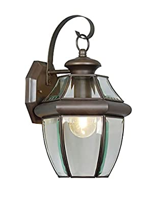 Crestwood Marigold 1-Light Wall Lantern, Bronze