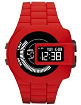 Diesel Viewfinder Digital Red Silicone Mens Watch Dz7276