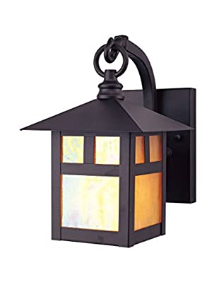 Crestwood Mabel 1-Light Wall Lantern, Bronze