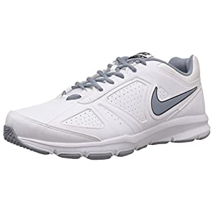 Nike Men's T-Lite XI SL White and Magnet Grey Synthetic Tennis Shoes - 10 UK