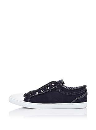 Dolce&Gabbana Zapatillas Pana Costuras Deshilachadas (Azul Marino)