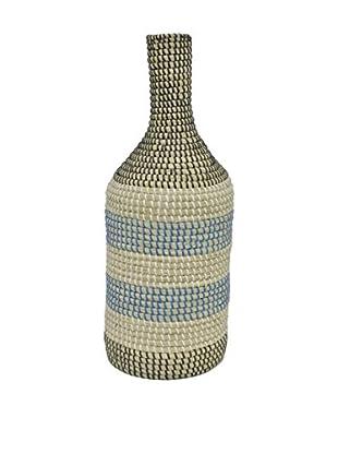 Three Hands Seagrass Vase, Multi