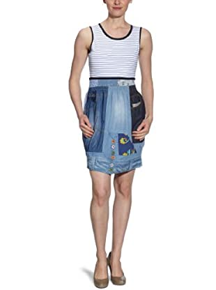 Desigual Vestido corto 21V2039 (Azul)