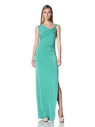 Poleci Women's Long Jersey Dress (Jade)