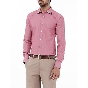 Genesis Red Striped Men Shirt - 10GSH23416