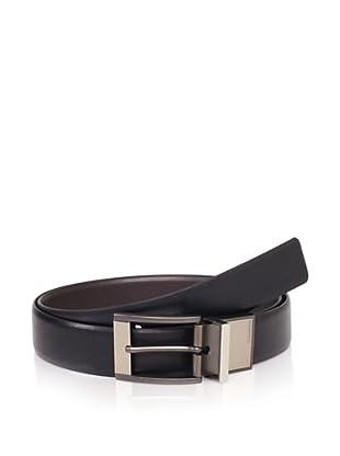 Calvin Klein Men's Reversible Logo Belt (Black/brown)