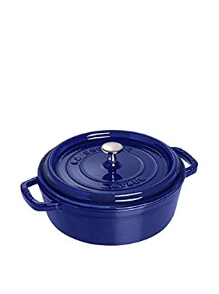Staub 6-Quart Shallow Round Cocotte (Dark Blue)