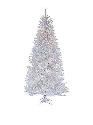 Kurt Adler 7.5' Pre-Lit Silver Ice Tree