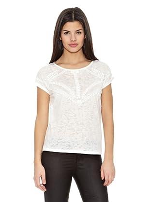 Springfield Camiseta T Tachas Blancas (Blanco)