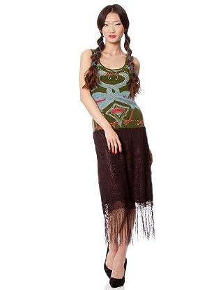 Custo Vestido (Negro / Verde)