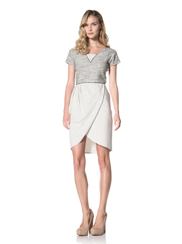 Jonathan Simkhai Women's Winston Dress (Black/Cream)