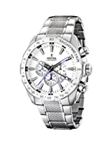 Festina Men's Stainless Steel Black Dial Bracelet Chronograph Watch F164881