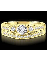 1.40TCW G/VVS1 Diamond Wedding Band in 18k Yellow Gold