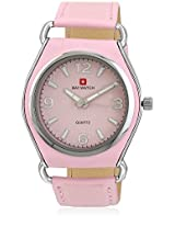 03050A Pink/Pink Analog Watch Baywatch