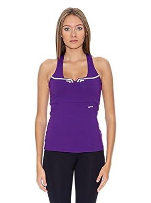 Naffta Camiseta Spinning (Purpura / Blanco)