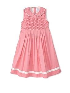 Rachel Riley Girl's Pleated Smock Dress (Blush Pink)