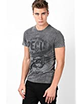 Dark Grey Scuba/S Special Round Neck T-Shirt