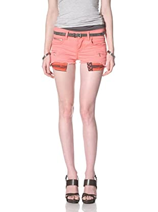 Rockstar Women's Twill Cutoff Shorts (Pink)