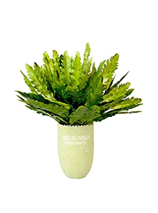 Creative Displays Feather Plant French Vase, Green