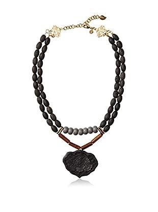 David Aubrey Multi-Stone Pendant Necklace