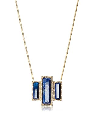 Melanie Auld Lapis Deco Necklace