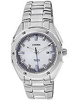 Citizen Eco-Drive Analog White Dial Men's Watch BM7130-58A