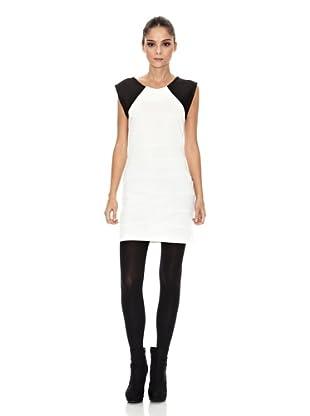 Rare London Vestido Twice (Blanco / Negro)