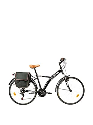 MOMA BIKES Bicicletta Trekking 26 Bike Alu 18V Hybrid Nero