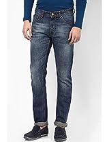 Blue Slim Fit Jeans Peter England