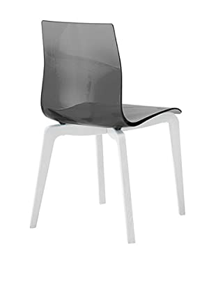 Domitalia Gel-L Chair, Transparent Smoke/White