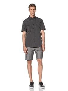 Dorsia Men's Daniel Short Sleeve Shirt (Dusty Black)