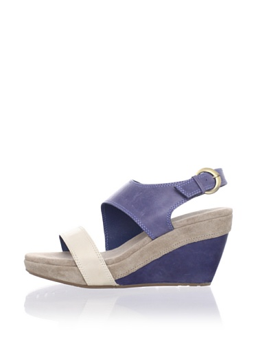 Chocolat Blu Women's Beaches Wedge Sandal (Blue)